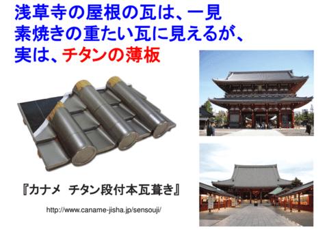 浅草の浅草寺の屋根瓦が実はチタンだって知ってた?
