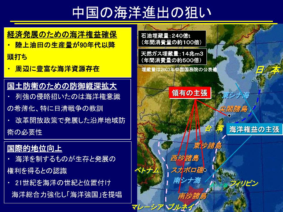 海中資源ニーズが高まる中、中国は海洋権益の確保を目指す