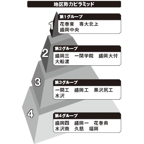 岩手 勢力ピラミッド