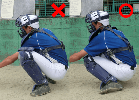 ヒザの外側で構えると左右の動きに対応しやすい