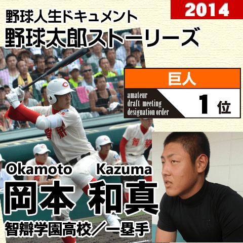 《野球太郎ストーリーズ》巨人2014年ドラフト1位、岡本和真。高校通算73本塁打を放った屈指のスラッガー(2)