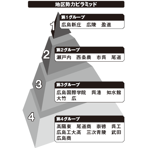 広島 勢力ピラミッド